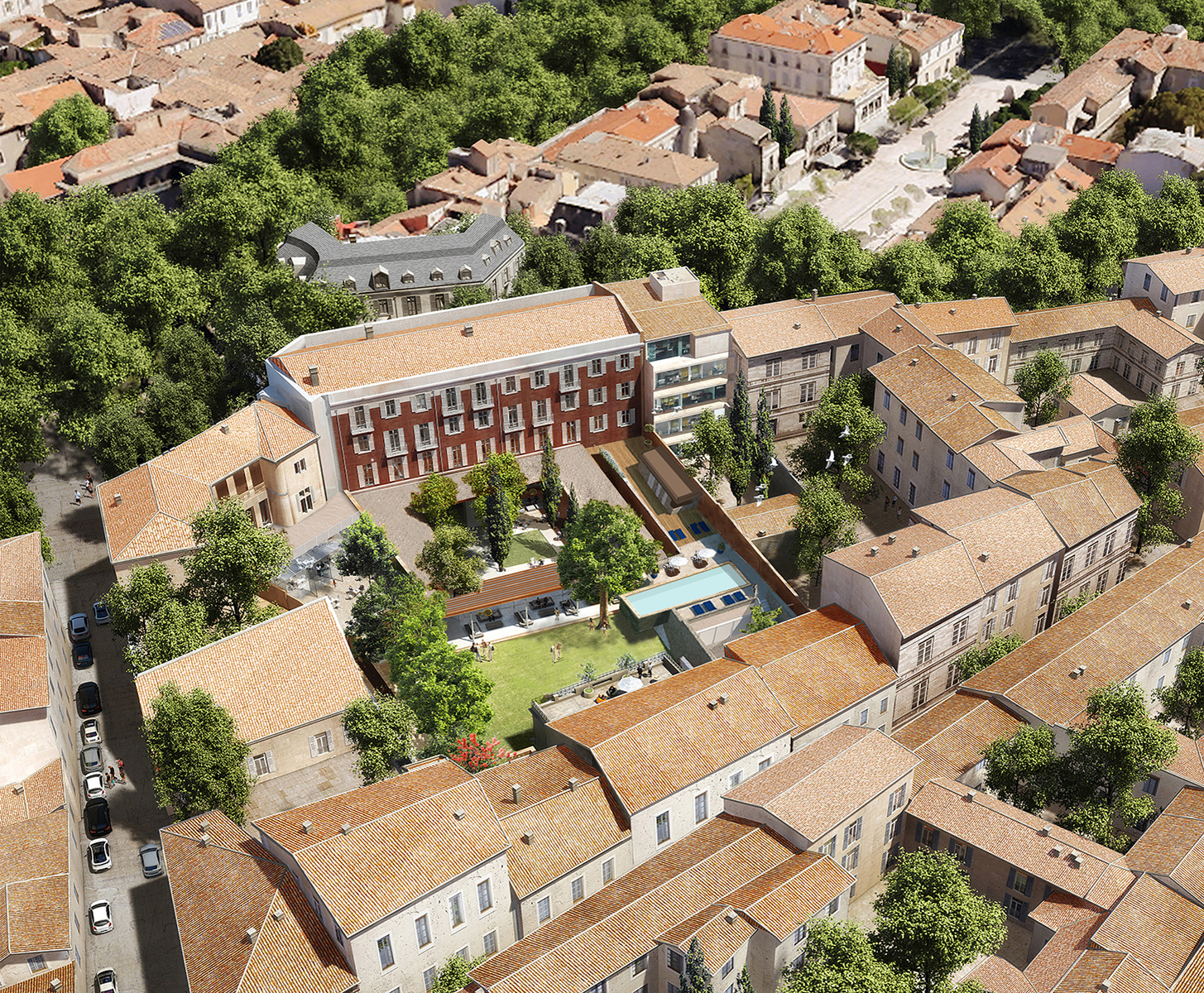 Maison Albar Hotels L'Imperator : aerial view of the hotel